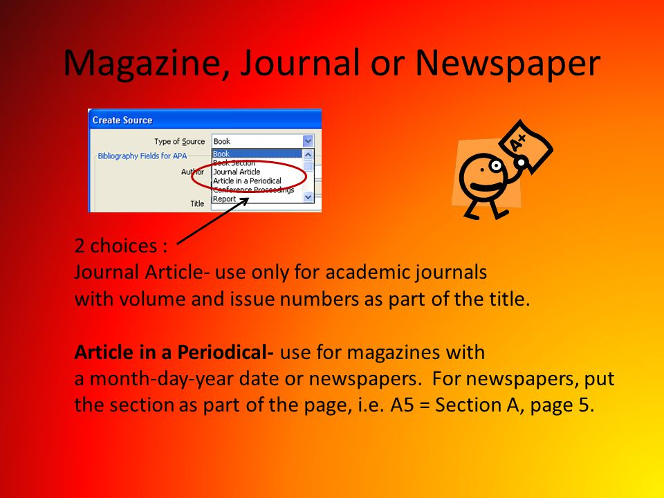 Magazine, Journal or Newspaper