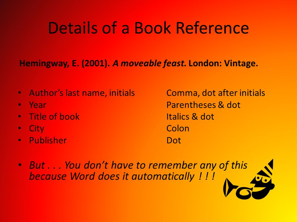 Details of a Book Reference