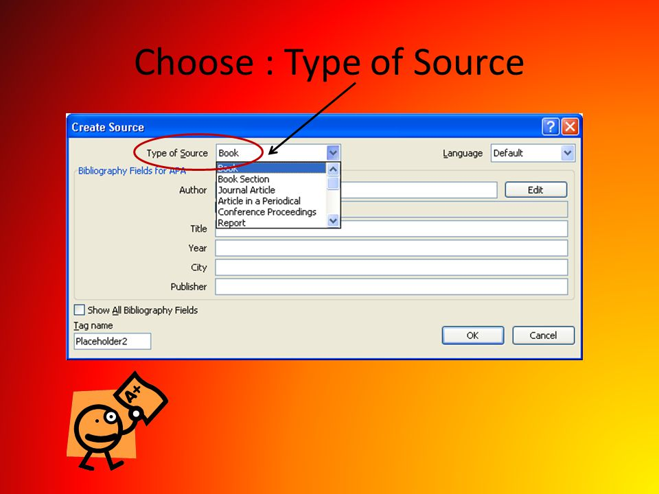 Choose : Type of Source