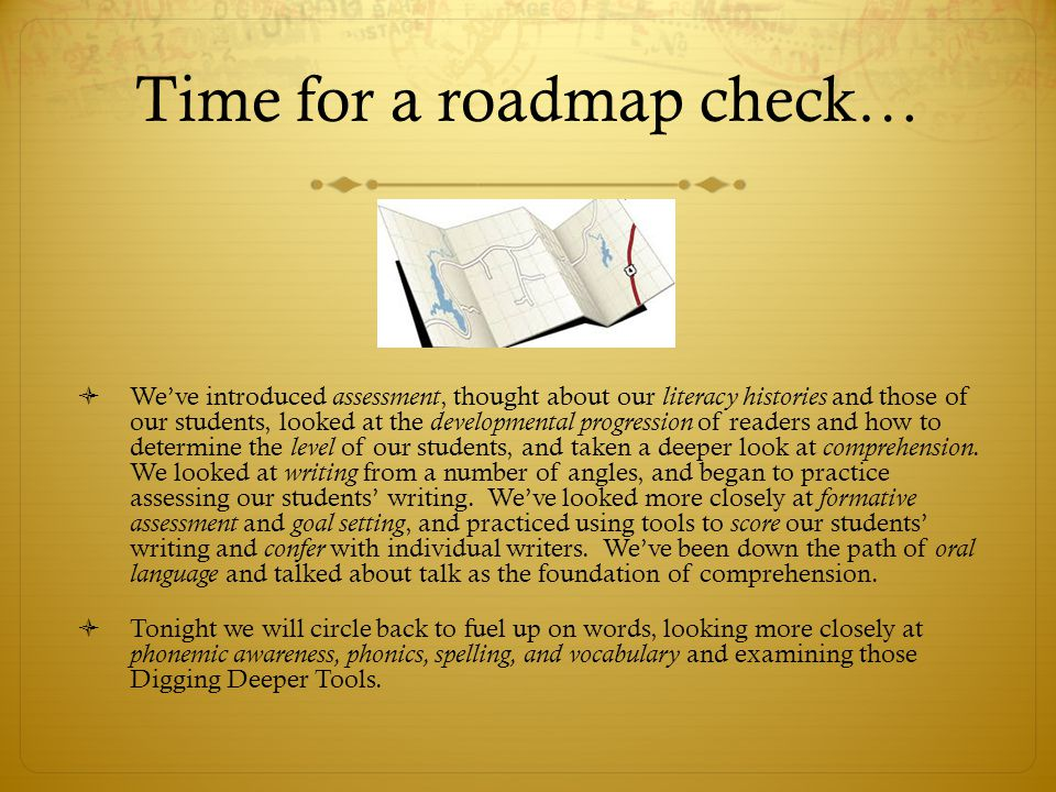 Time for a roadmap check…