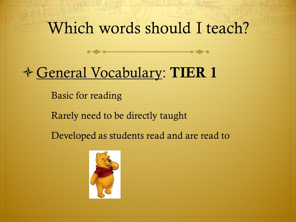 Which words should I teach