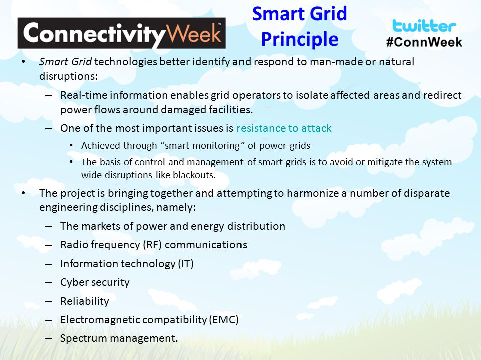 emi emc issues in smart grid In addition he is a focus leader on the nist electromagnetic interoperability issues working group which is providing emc recommendations for smart grid equipment and systems dave arnett is a us technical expert working within cispr subcommittee i, which creates and manages the emc standards for broadcast receivers, ite, and multimedia equipment.
