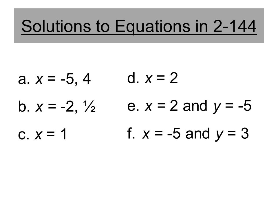 Solutions to Equations in 2-144