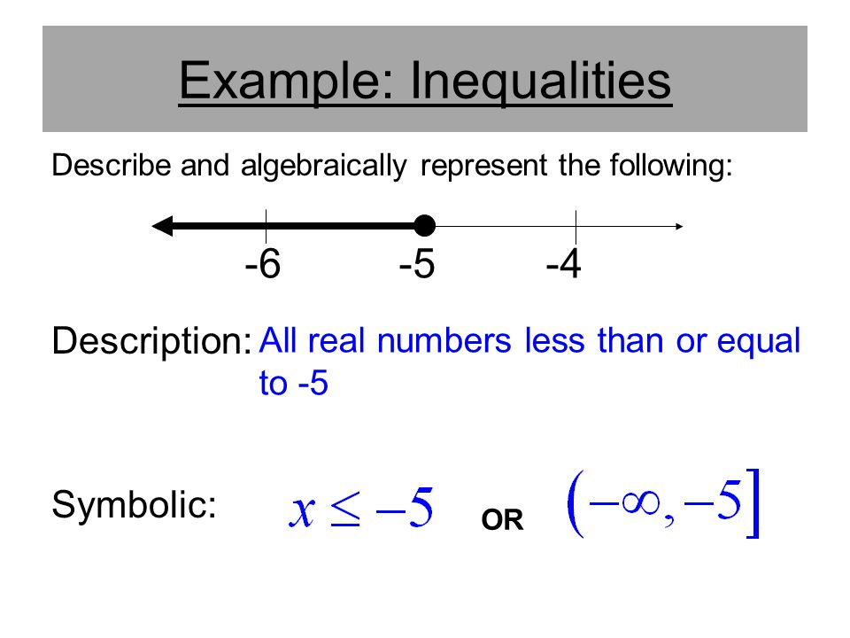 Example: Inequalities