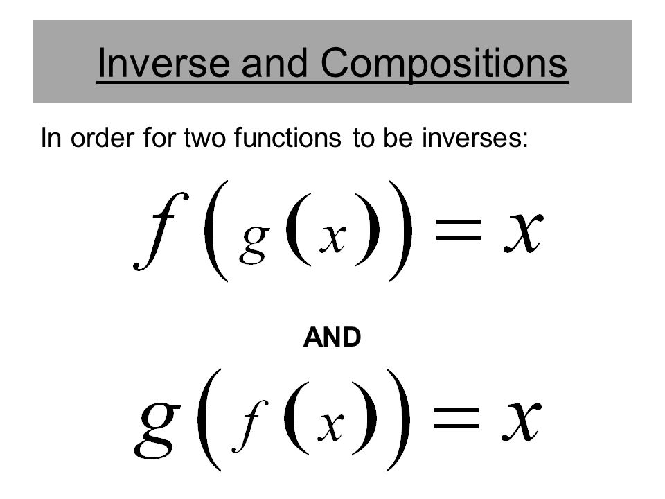 Inverse and Compositions