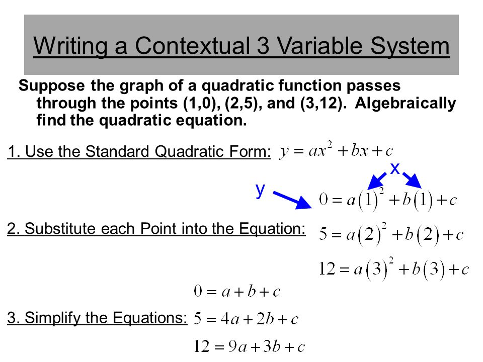 Writing a Contextual 3 Variable System