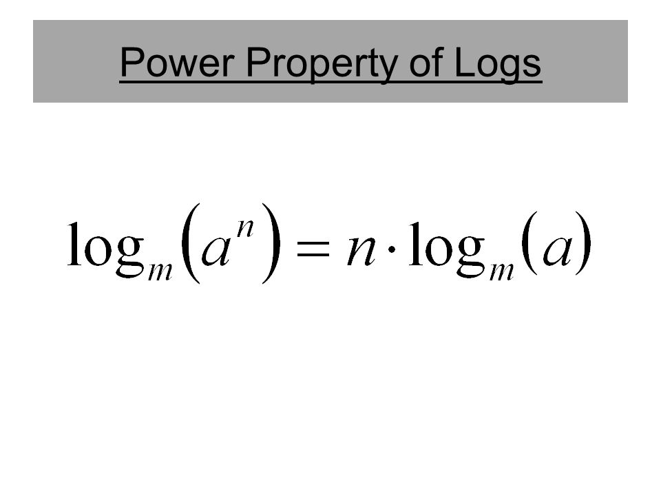 Power Property of Logs