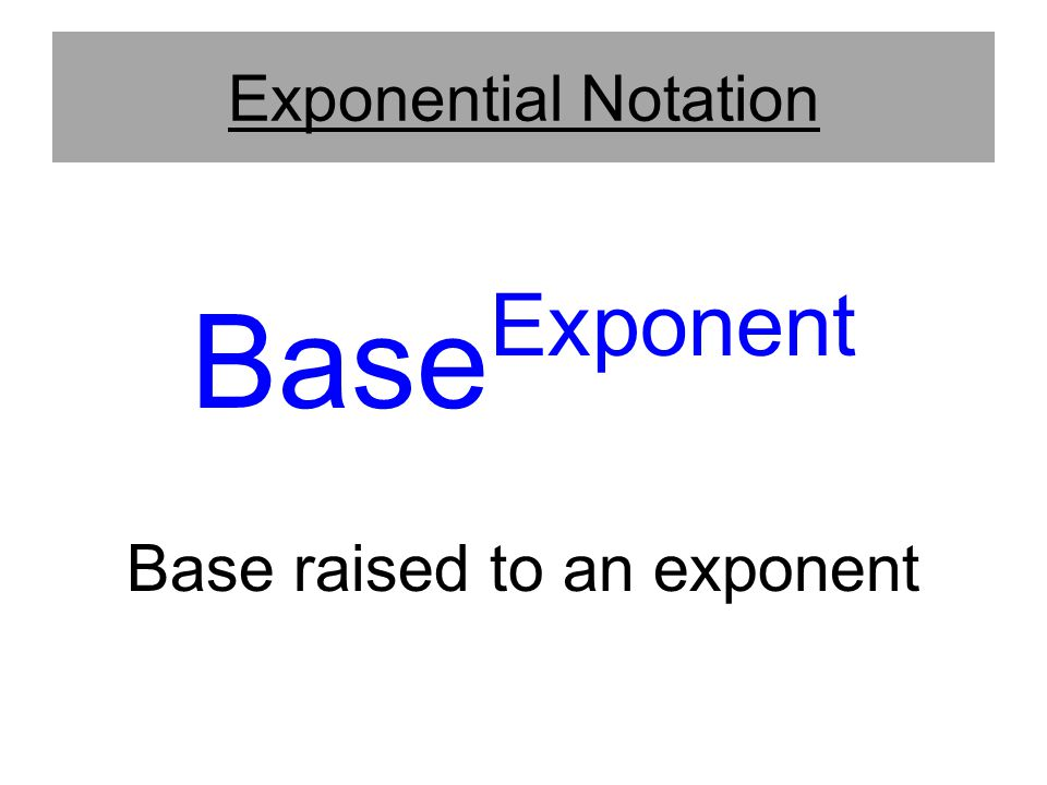 Base raised to an exponent