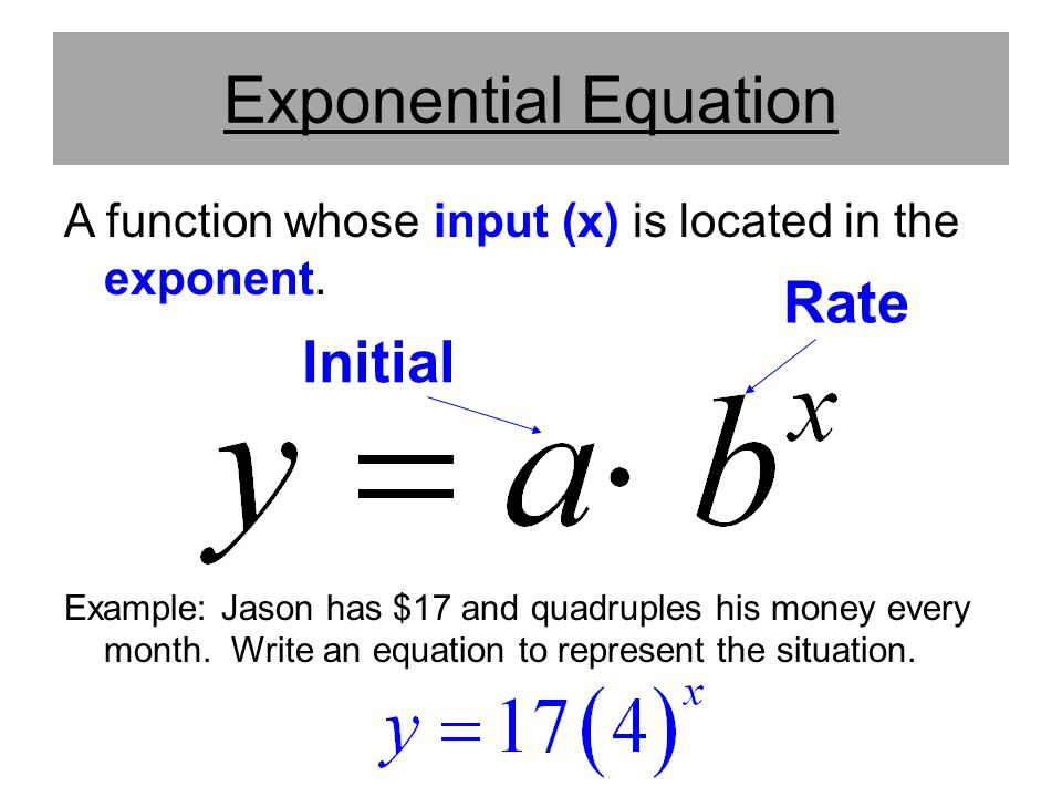Exponential Equation Rate Initial