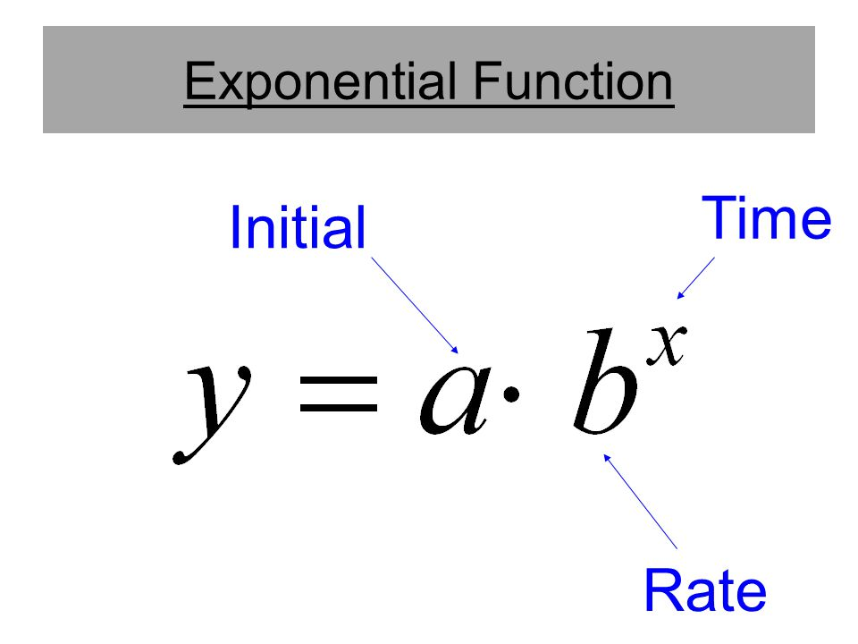 Exponential Function Time Initial Rate