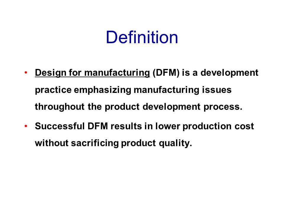 Design for manufacturing ppt video online download for Product design for manufacturing