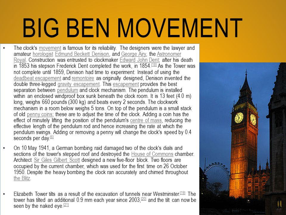 Big Ben Movement