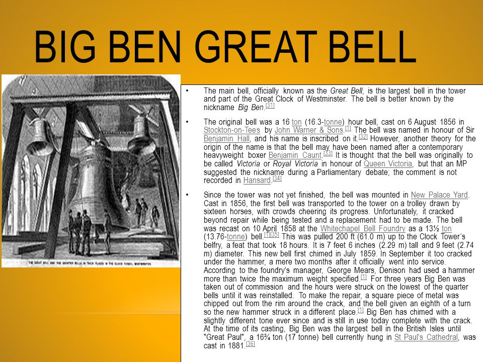 Big Ben Great Bell