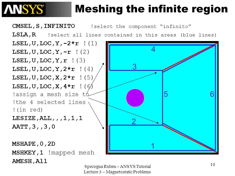 Meshing the infinite region