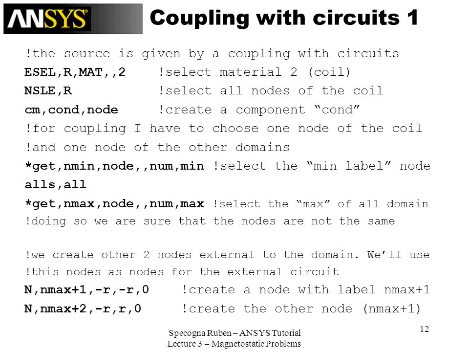 Coupling with circuits 1