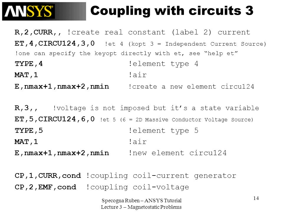 Coupling with circuits 3