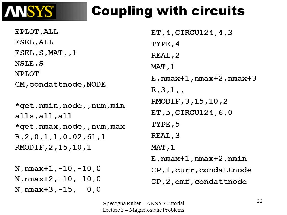 Coupling with circuits