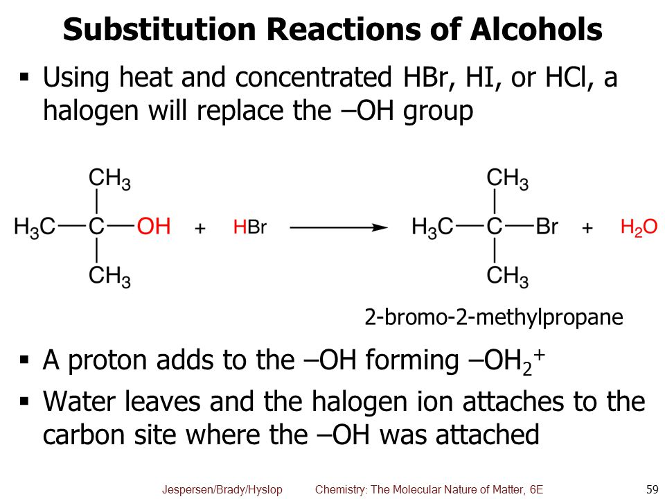 Substitution Reactions of Alcohols