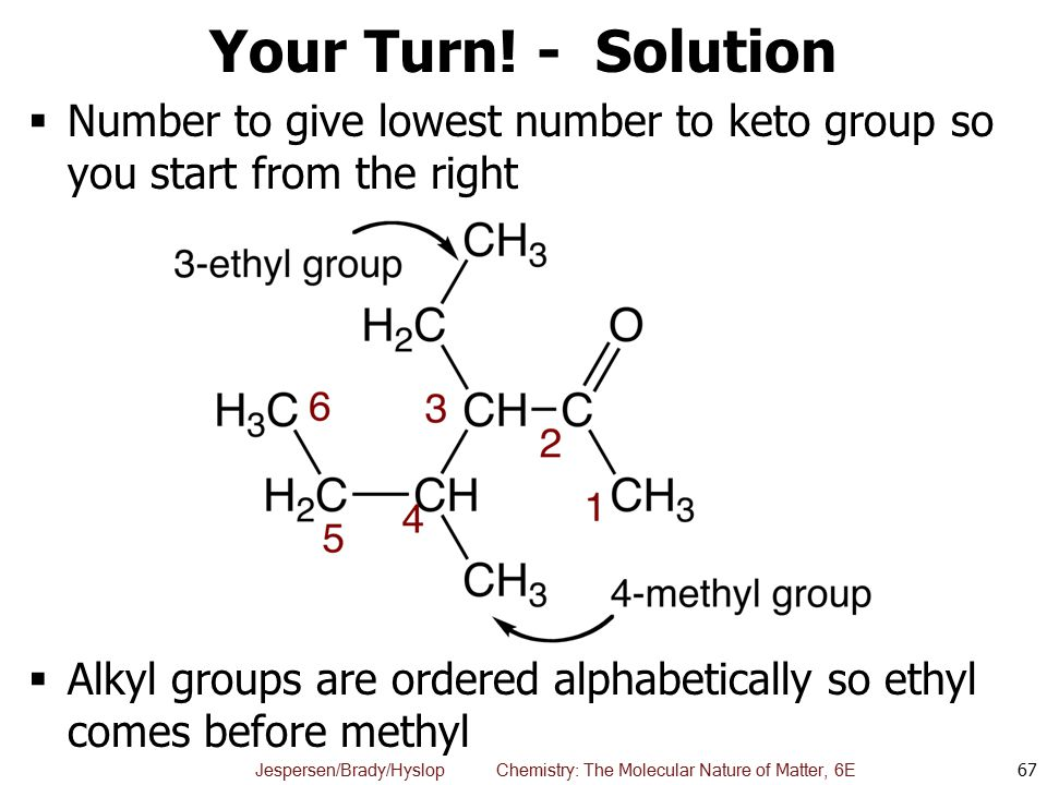 Your Turn! - Solution Number to give lowest number to keto group so you start from the right.