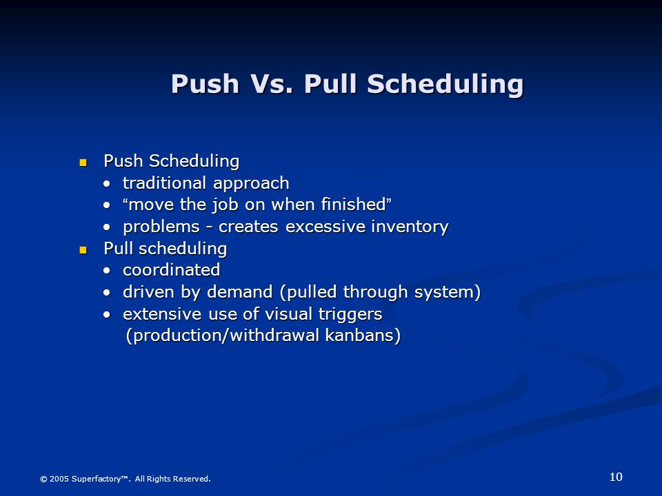 Push Vs. Pull Scheduling