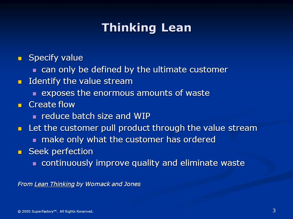 Thinking Lean Specify value
