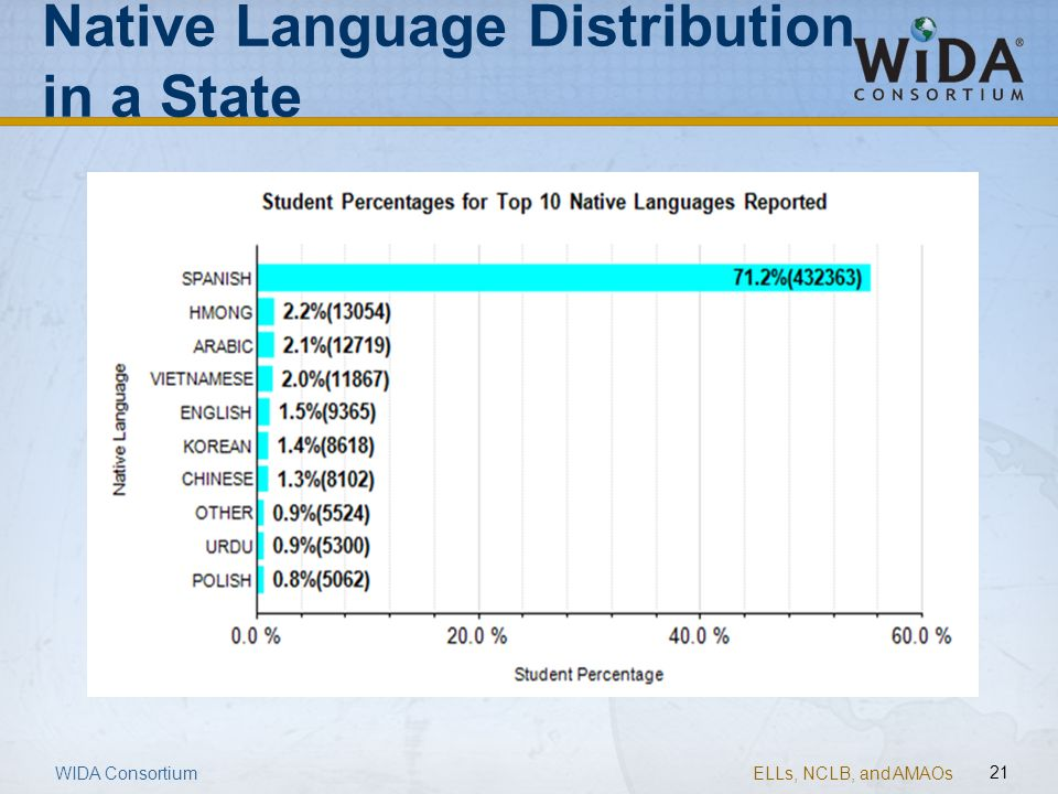 Native Language Distribution in a State
