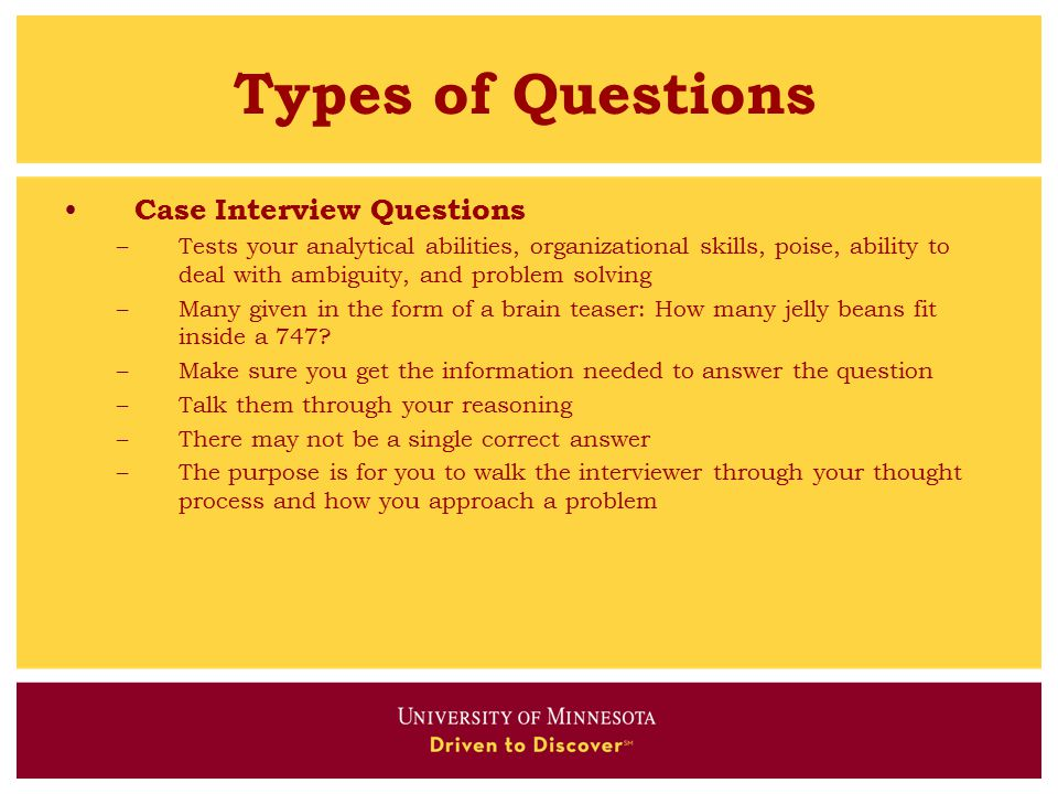types of questions case interview questions - Problem Solving Interview Questions And Answers