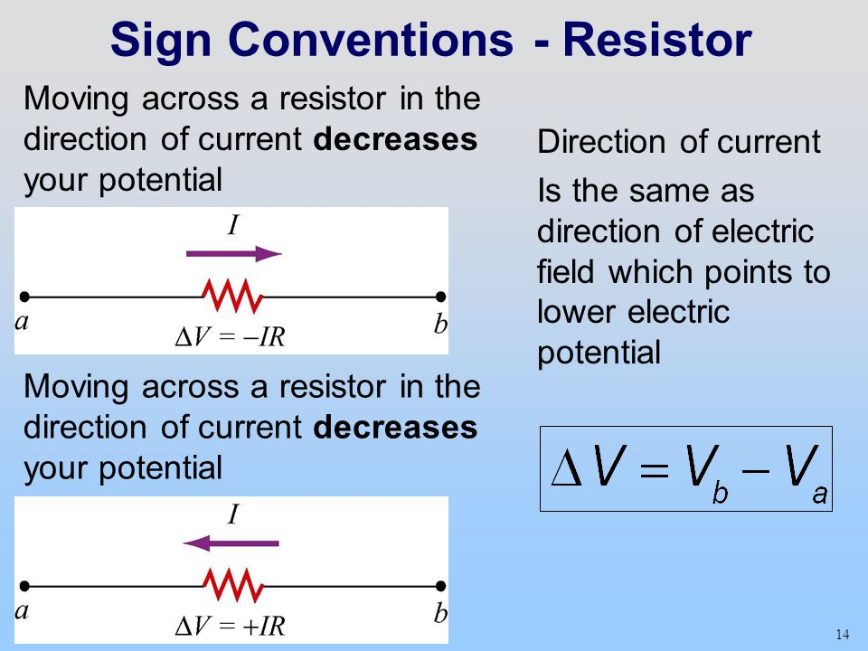 Sign Conventions - Resistor