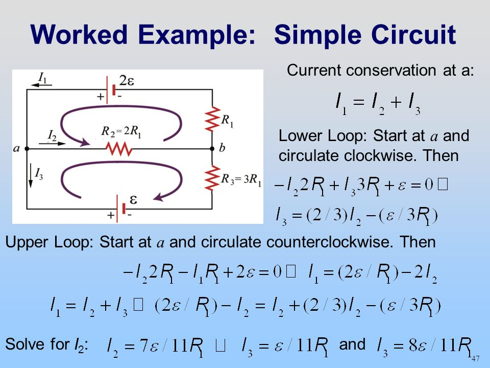 Worked Example: Simple Circuit
