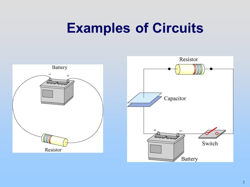 Examples of Circuits Class 12