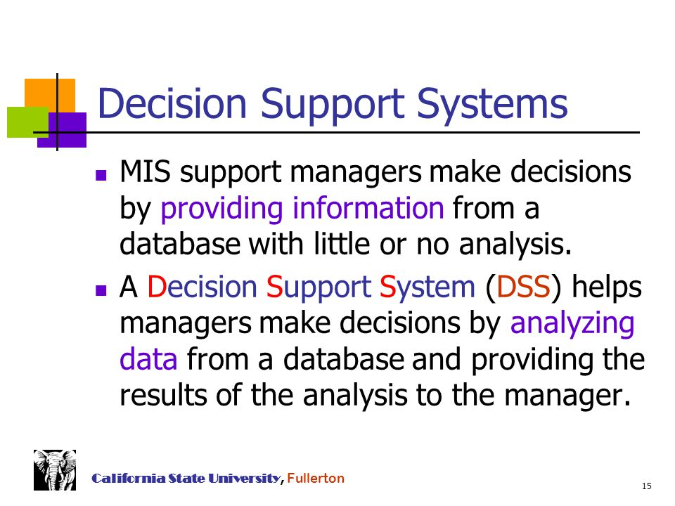 business systems analysis and decision support Decision support systems have gained immense popularity in various domains, including military, security, medicine, manufacturing, engineering and business these can support decision making in situations where precision is of importance.