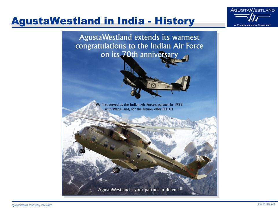 AgustaWestland in India - History