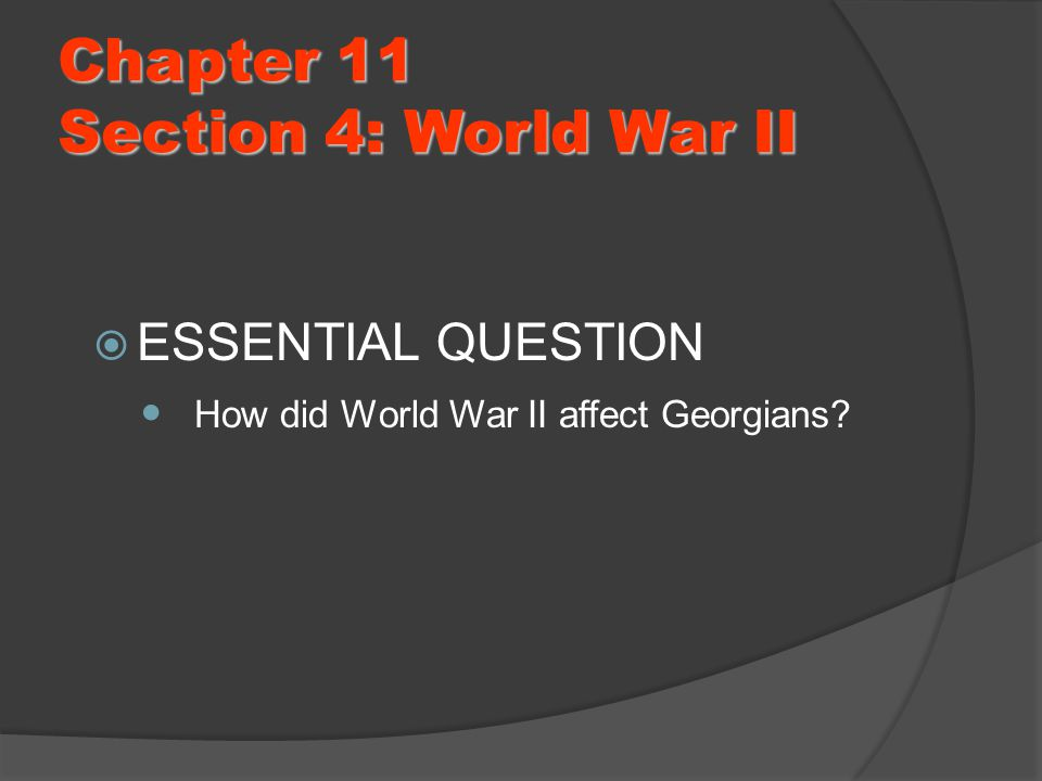 how did world war ii affect women on tennessee essay The atomic bombs of world war 2 ryan borek world war ii was a war no one not only did this affect the leaders of world war ii essay submitted by.