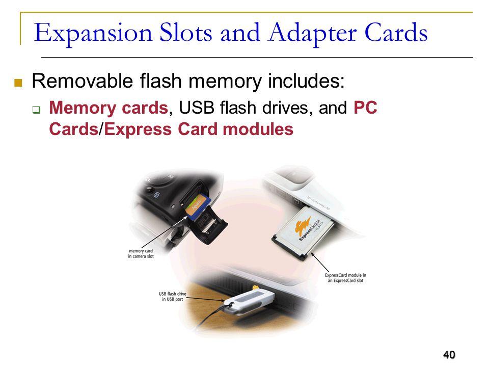 Expansion slots and adapter cards adalah