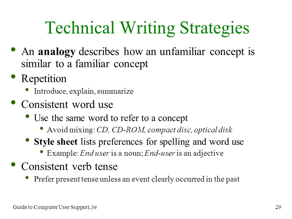 technical writing style guide Companies often have such guides, but they fail to use them consistently and, nothing looks worse than a dozen help articles in one user manual that have different styles try our advice out, and you'll be well on your way to clear and beautiful technical documentation happy technical writing clickhelp.