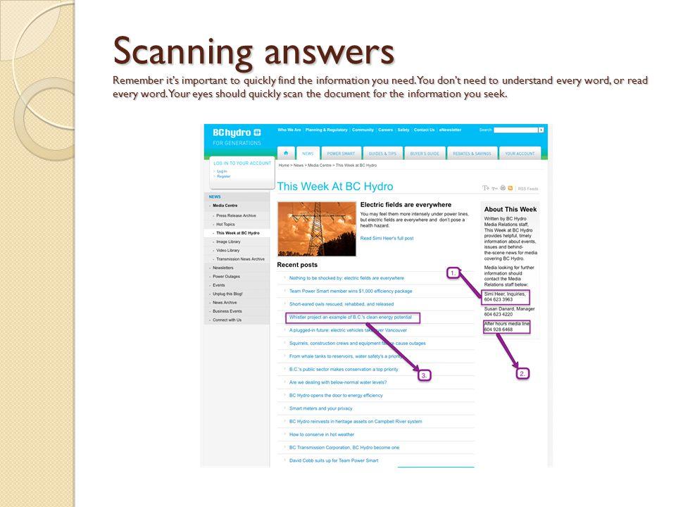 When Scanning Line Art You Should : Reading comprehension skills ppt download