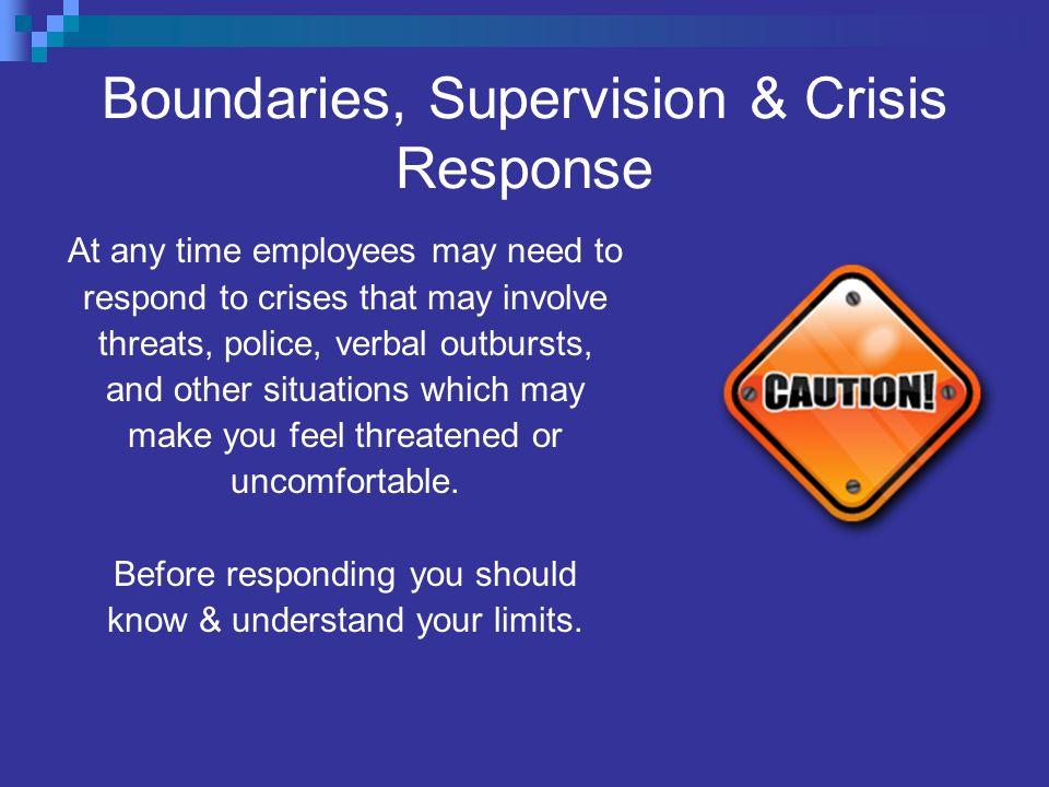 Boundaries, Supervision & Crisis Response