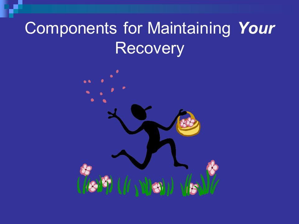 Components for Maintaining Your Recovery