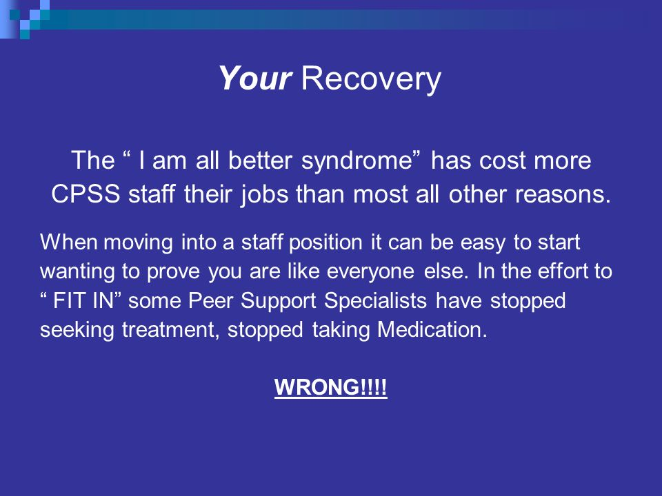 Your Recovery The I am all better syndrome has cost more