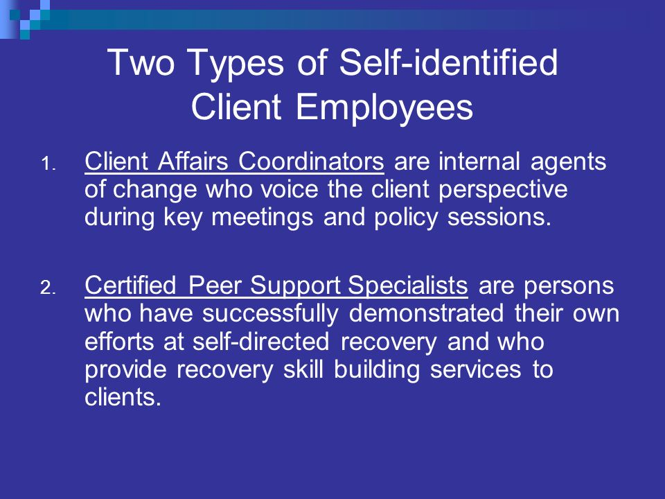 Two Types of Self-identified Client Employees