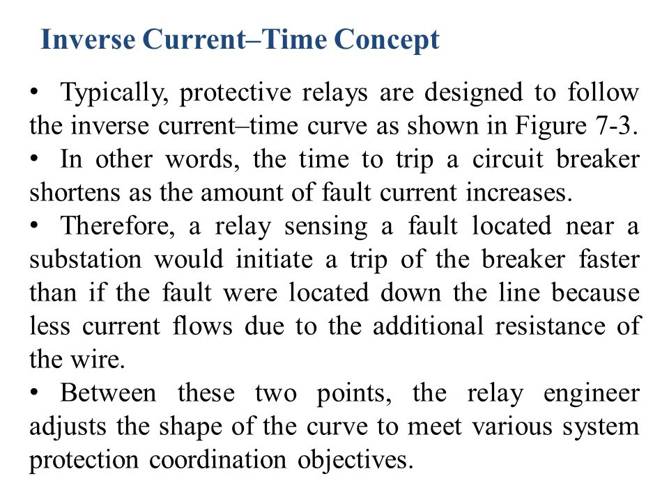 Inverse Current–Time Concept