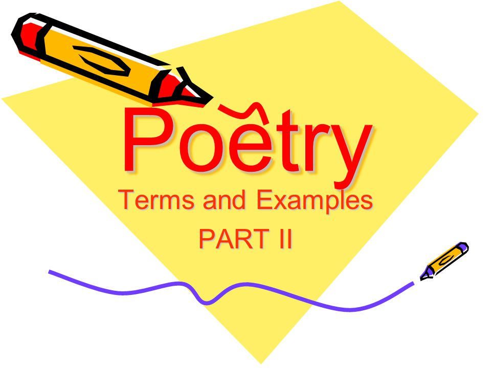 Terms and Examples PART II