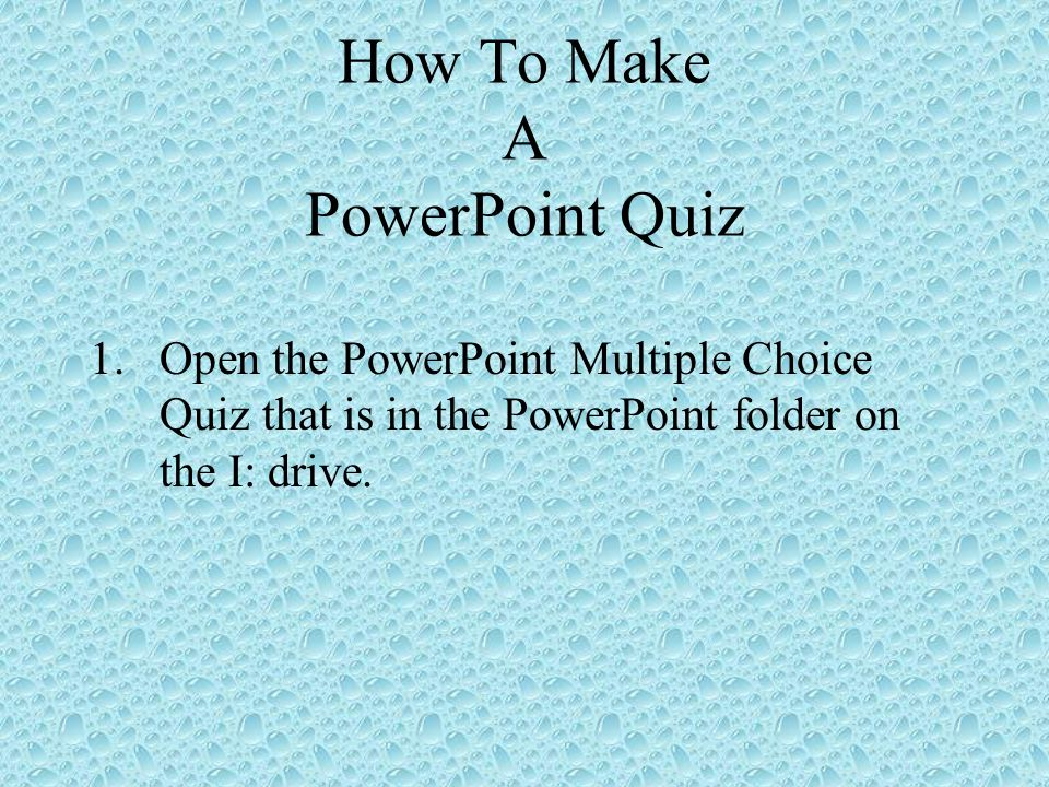 How to make a powerpoint quiz ppt video online download how to make a powerpoint quiz toneelgroepblik Choice Image