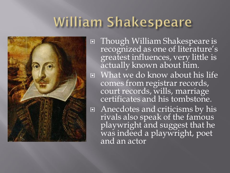 shakespeare influences And yet, when it comes to shakespeare's influence on the english language and  storytelling, few that are intimately familiar with his work will.