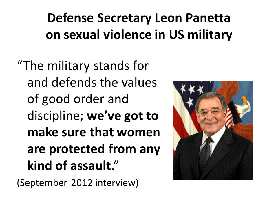 Defense Secretary Leon Panetta on sexual violence in US military