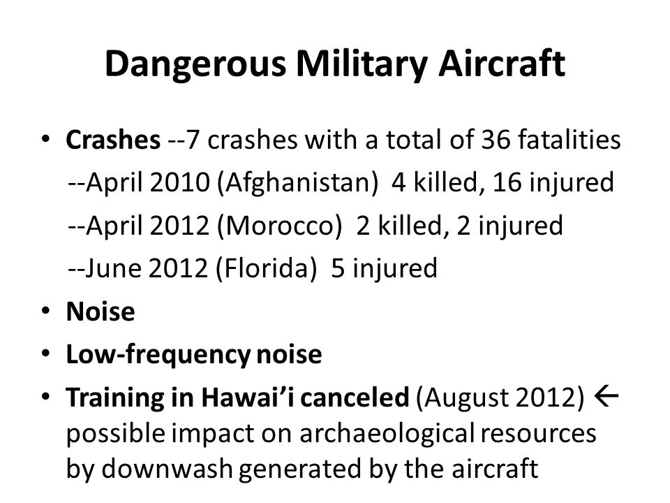 Dangerous Military Aircraft