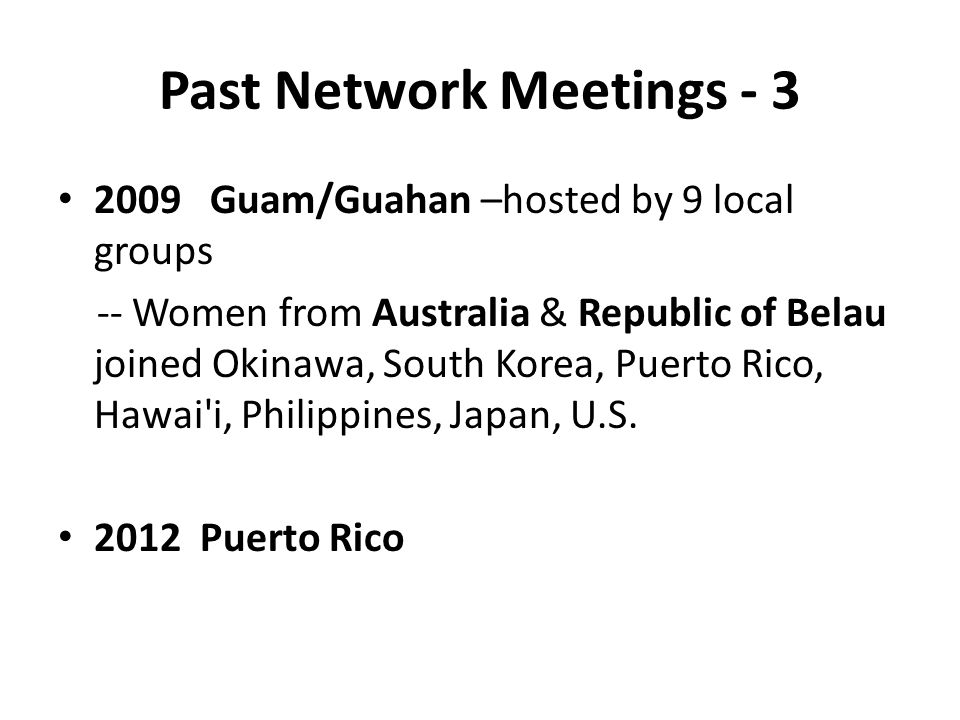 Past Network Meetings - 3
