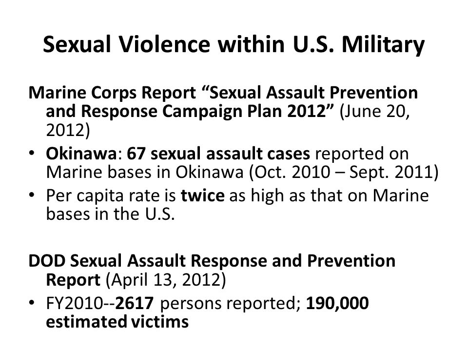 Sexual Violence within U.S. Military