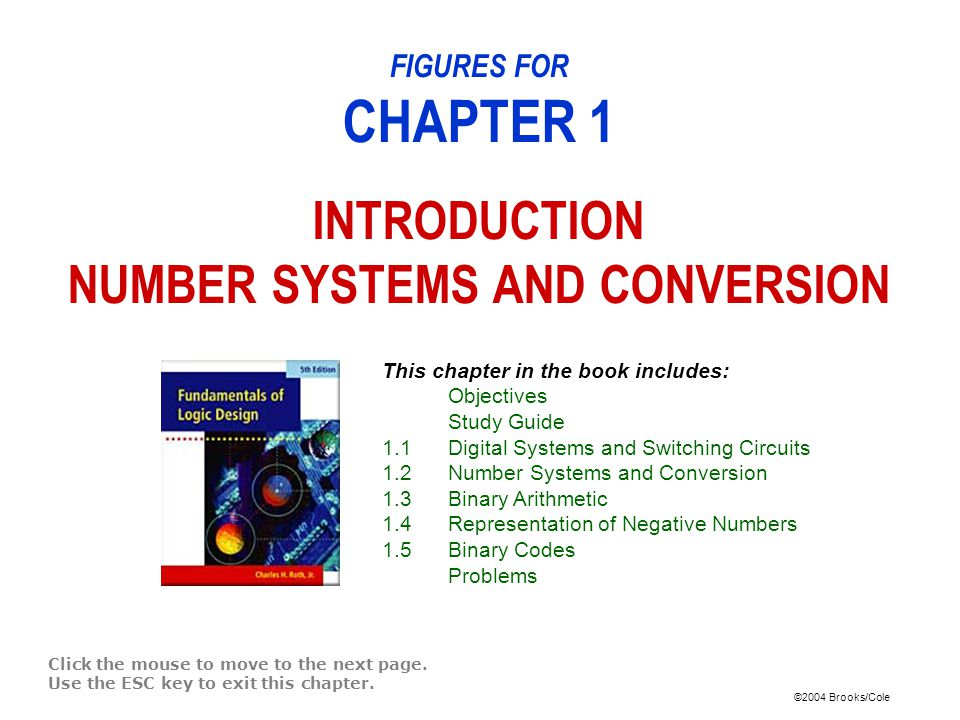FIGURES FOR CHAPTER 1 INTRODUCTION NUMBER SYSTEMS AND CONVERSION