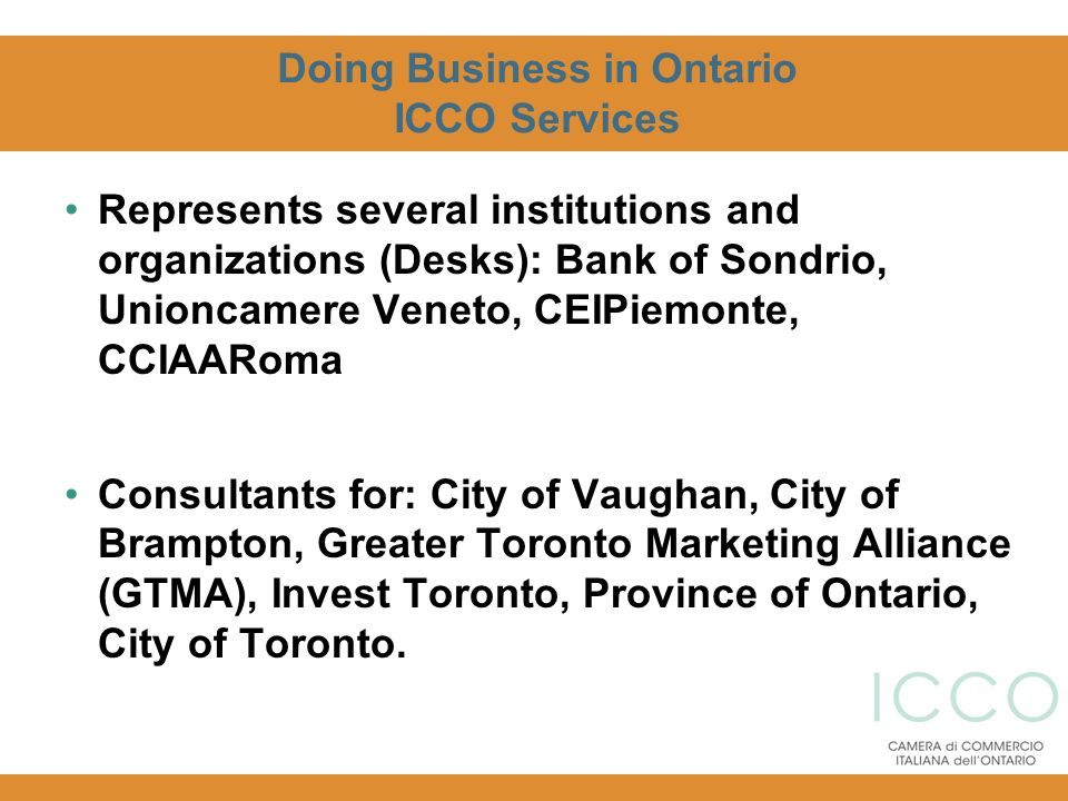 Doing Business in Ontario